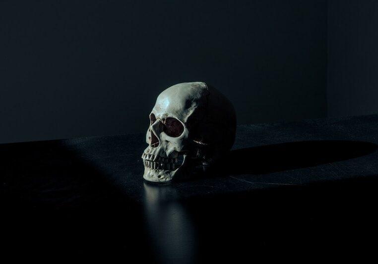 Black-and-white-skull
